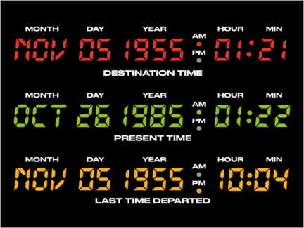 Premium poster  Back to the future - countdowns