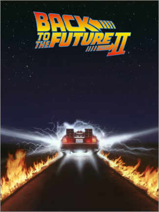 Aluminium print  Back to the future II - DeLorean