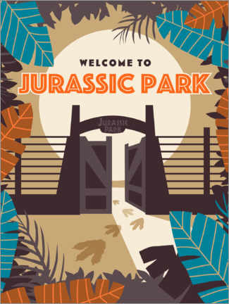 Premium poster Jurassic Park - jungle wildbaan