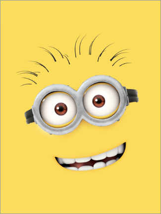 Premium poster  Silly Minion Face
