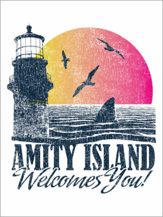 Premium poster  Amity Island Welcomes You