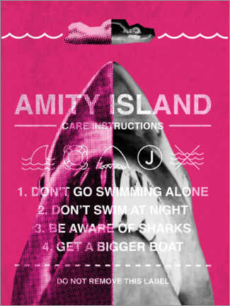Premium poster  Amity Island - instructies