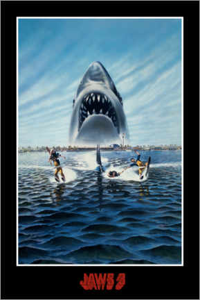 Premium poster  Jaws 3-D - waterski