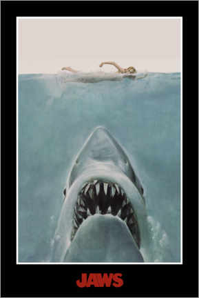 Canvas print  Jaws - zwemster