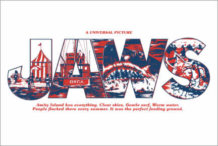 Premium poster  Jaws - Perfect feeding ground, wit