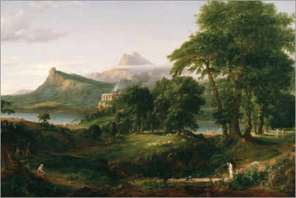 Acrylglas print  The Course of Empire The Arcadian or Pastoral State - Thomas Cole