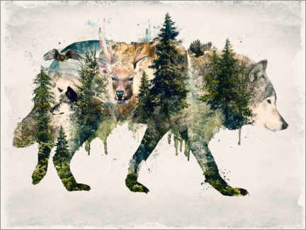 Acrylglas print  Walk with wolves - Barrett Biggers