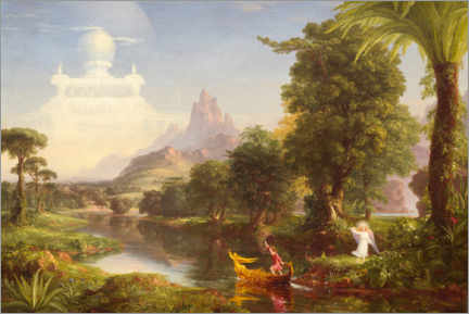 Acrylglas print  The journey of life, the youth - Thomas Cole