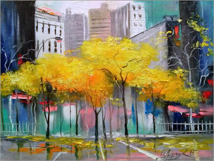 Acrylglas print  Herfst in Chicago - Olha Darchuk