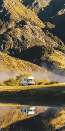PVC print  Caravan on aroad trip through New Zealand - Matthew Williams-Ellis
