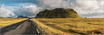 Premium poster  Car driving on a road trip adventure in Iceland - Matthew Williams-Ellis