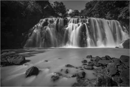 Aluminium print  Waterfall in the rainforest - Matthew Williams-Ellis