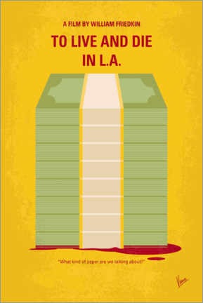 Hout print  To Live and Die in LA - chungkong