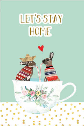 Gallery print  Let's stay home - GreenNest
