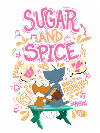 Hout print  Tom and Jerry - Sugar and Spice