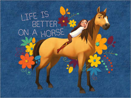 Acrylglas print  Life is better on a horse