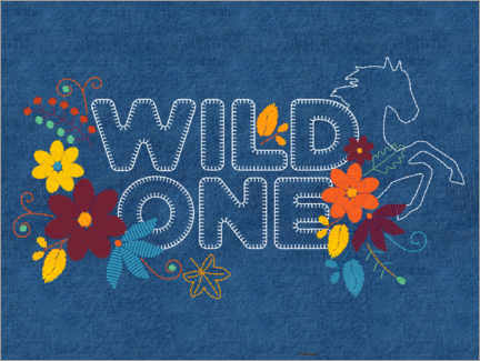 Premium poster  Wild one embroidery