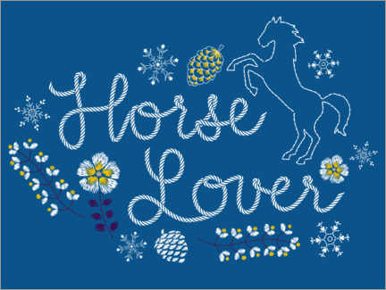 Premium poster  Horse lover embroidery