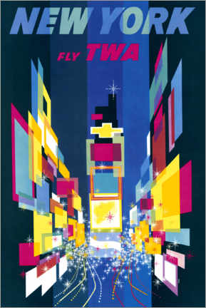 Acrylglas print  New York, Fly TWA - William P. Gottlieb/LOC