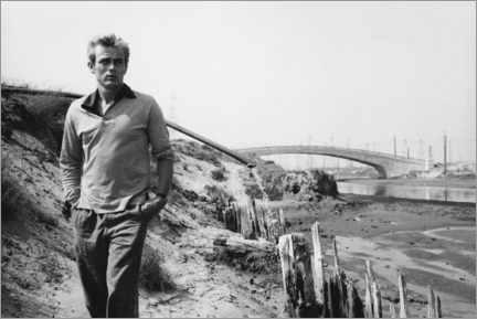 Acrylglas print  James Dean - Sanford Roth