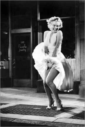 Acrylglas print  Marilyn - The Seven Year Itch iconic pose - Celebrity Collection
