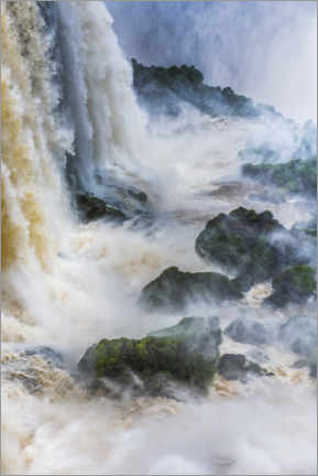 Premium poster Powerful Waterfall in the Rainforest