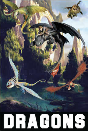 Premium poster  DreamWorks Dragons excursion