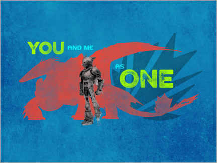 Premium poster  You and me as one