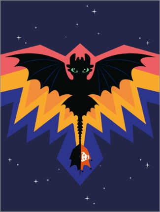 Canvas print  Toothless - Dragon wings