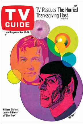 Premium poster  Star Trek - Retro Cover 1967 - TV Guide