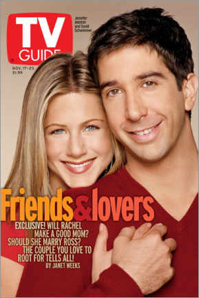 Hout print  Rachel and Ross - Friends & Lovers - TV Guide