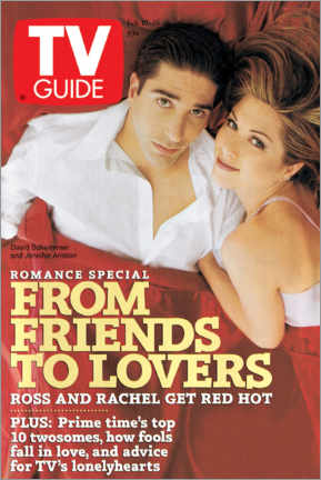 Hout print  Ross and Rachel - Friends to lovers - TV Guide