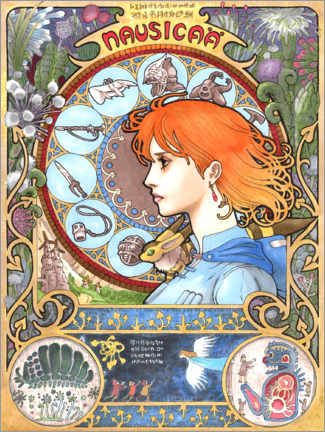 Canvas print  Nausicaä of the Valley of the Wind