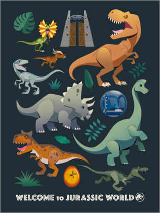 Premium poster  Welcome to Jurassic World
