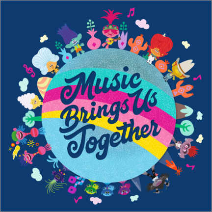 Hout print  Music brings us together