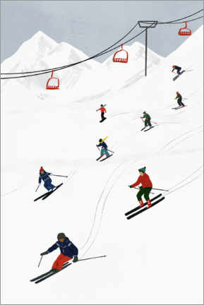 Aluminium print  On the ski slope - Victoria Borges