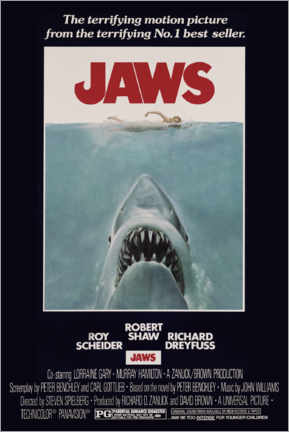 Premium poster  Jaws - Retro Advertise