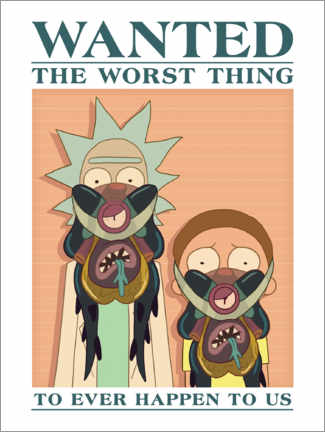Acrylglas print  Rick and Morty - The worst thing