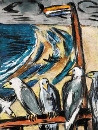 Hout print  Seagulls in the storm - Max Beckmann
