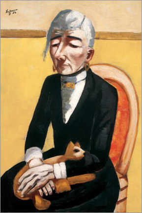 Hout print  The old actress - Max Beckmann