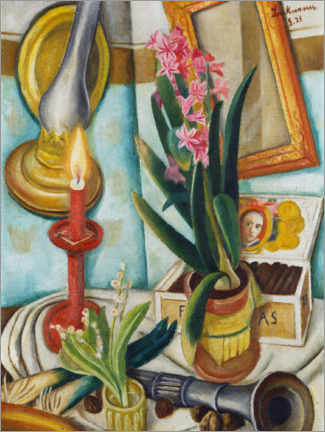 Gallery print  Still life with a burning candle - Max Beckmann
