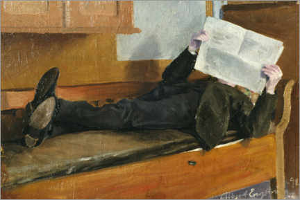 Premium poster The artist's father, reading a newspaper