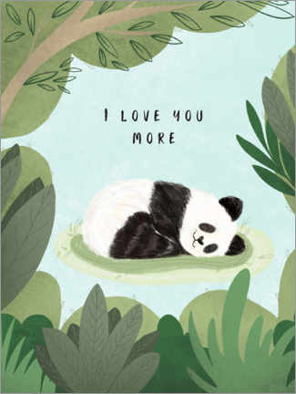 Aluminium print  I love you more - Nikita Jariwala