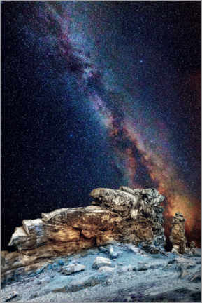 Premium poster Milky Way over the Devil's Wall