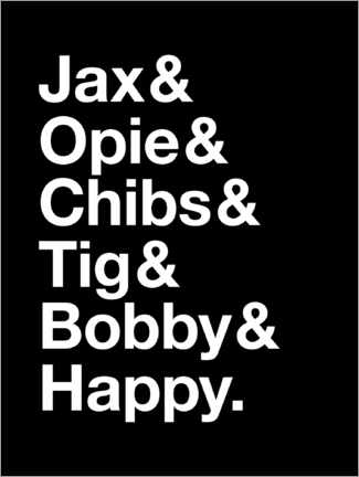 Premium poster Sons Of Anarchy - Names