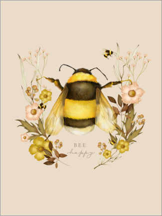 Premium poster Floral with bee