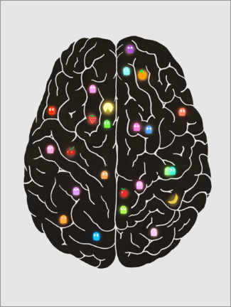 Premium poster  Your Brain On Video Games - Terry Fan