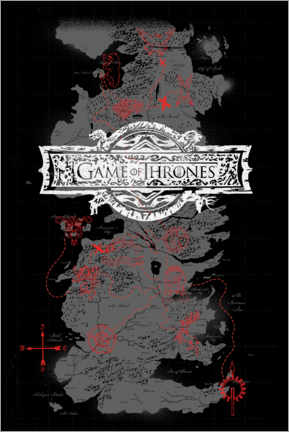 PVC print  Game of Thrones - Westeros Map