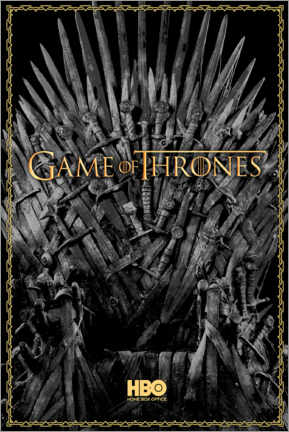 Canvas print  Game of Thrones - The Iron Throne - gold