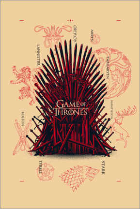 Gallery print  GOT - throne and houses